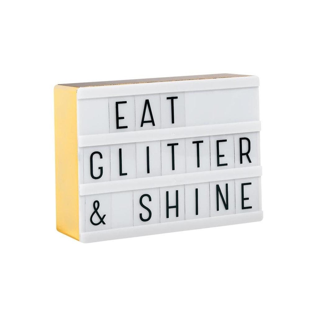 BLOCKBUSTER Světelný box mini A6 - zlatá