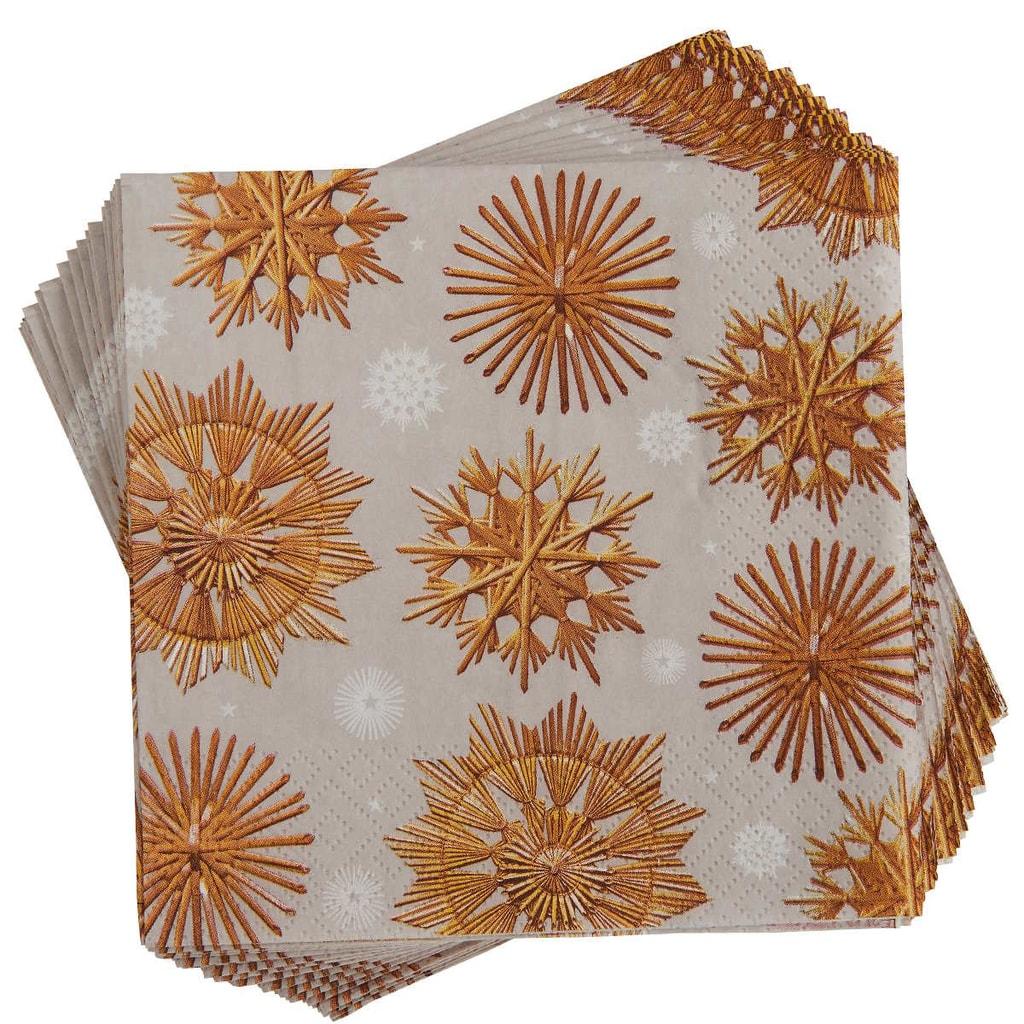 APRÉS Papírové ubrousky slaměné ozdoby