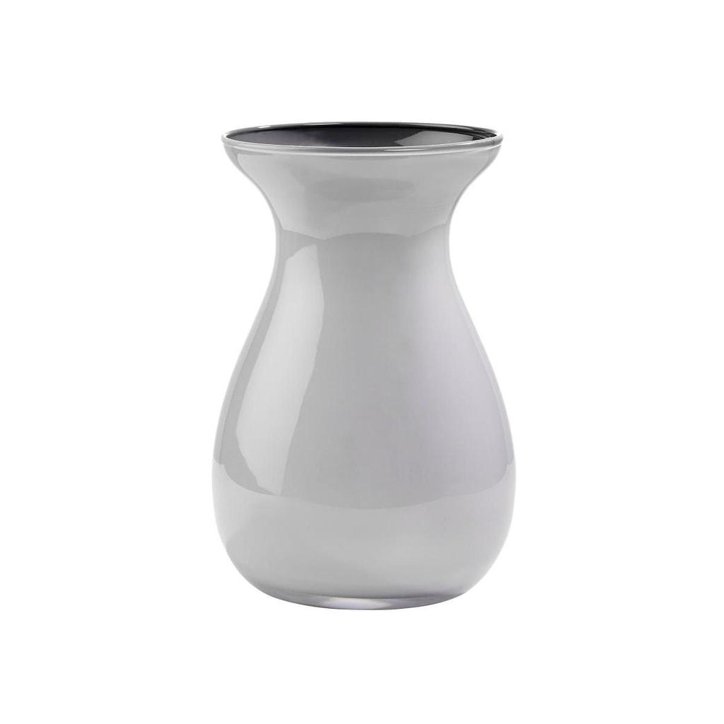 BELLE Váza skleněná 18 cm - sv. šedá