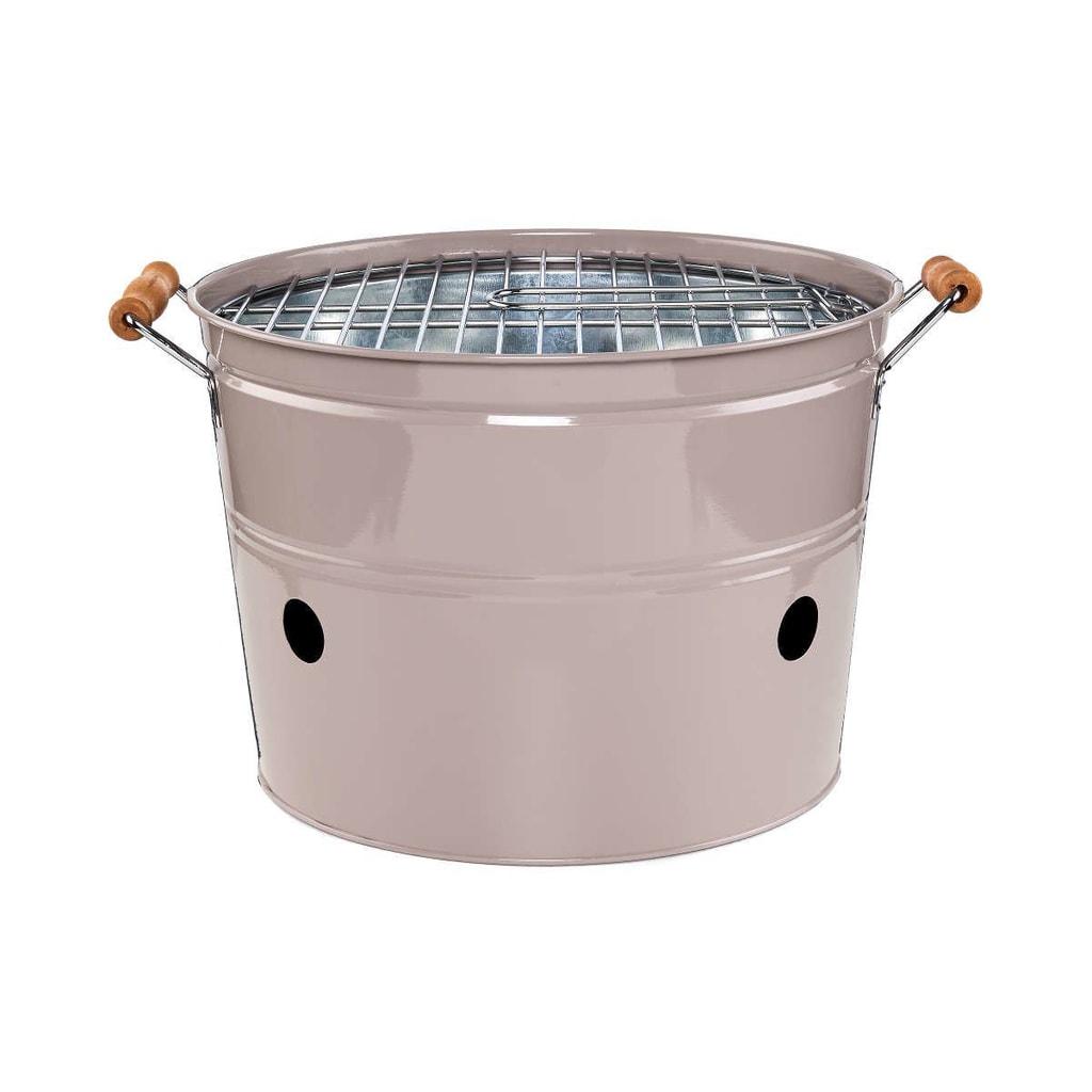 BBQ Přenosný gril kulatý - šedá