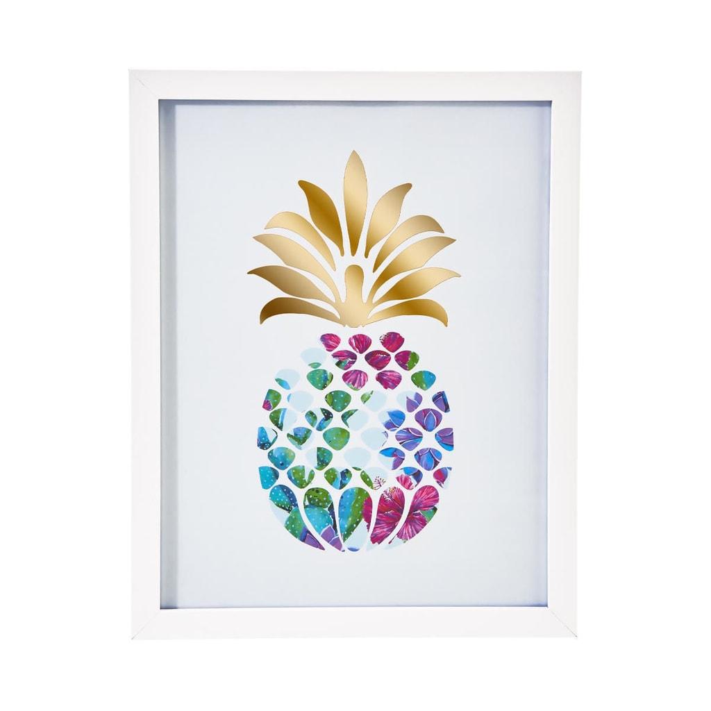 PICTURE POETRY Obraz v rámu ananas