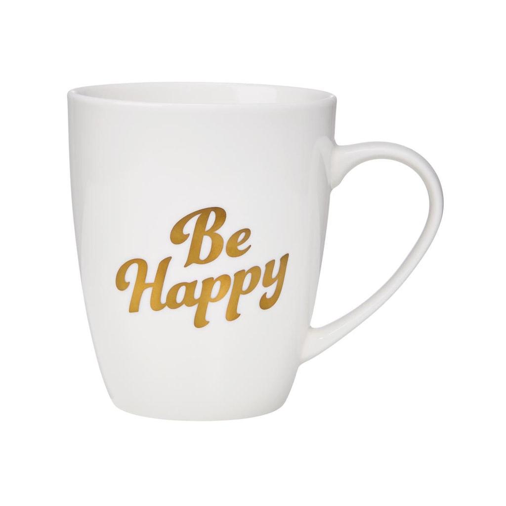 """WHITE XMAS Hrnek """"Be Happy"""" 350 ml"""