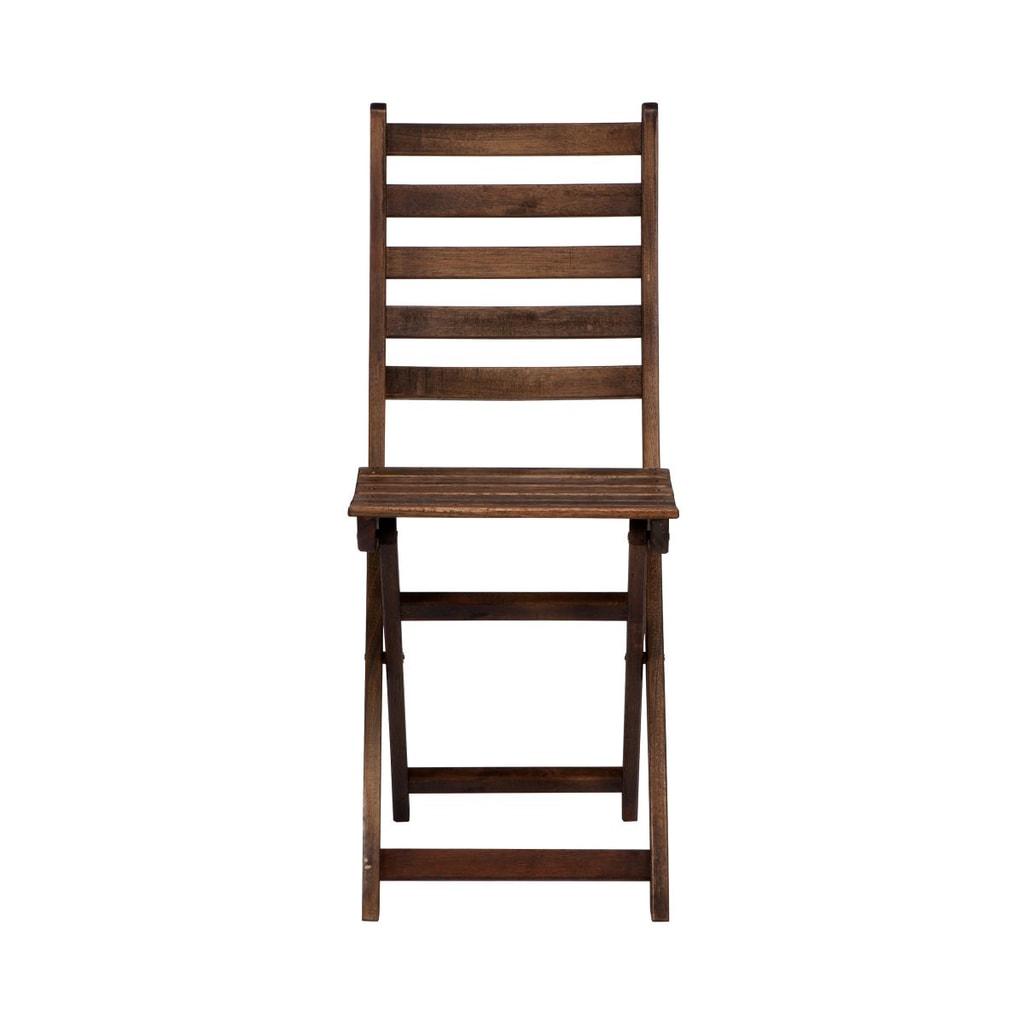 LODGE Skládací židle FSC-eukalyptus - hnědá