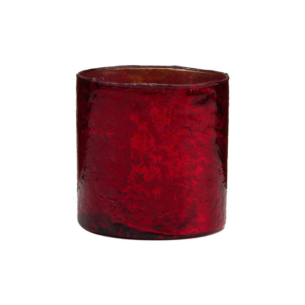 DELIGHT Skleněný votivní svícen 8 cm - červená