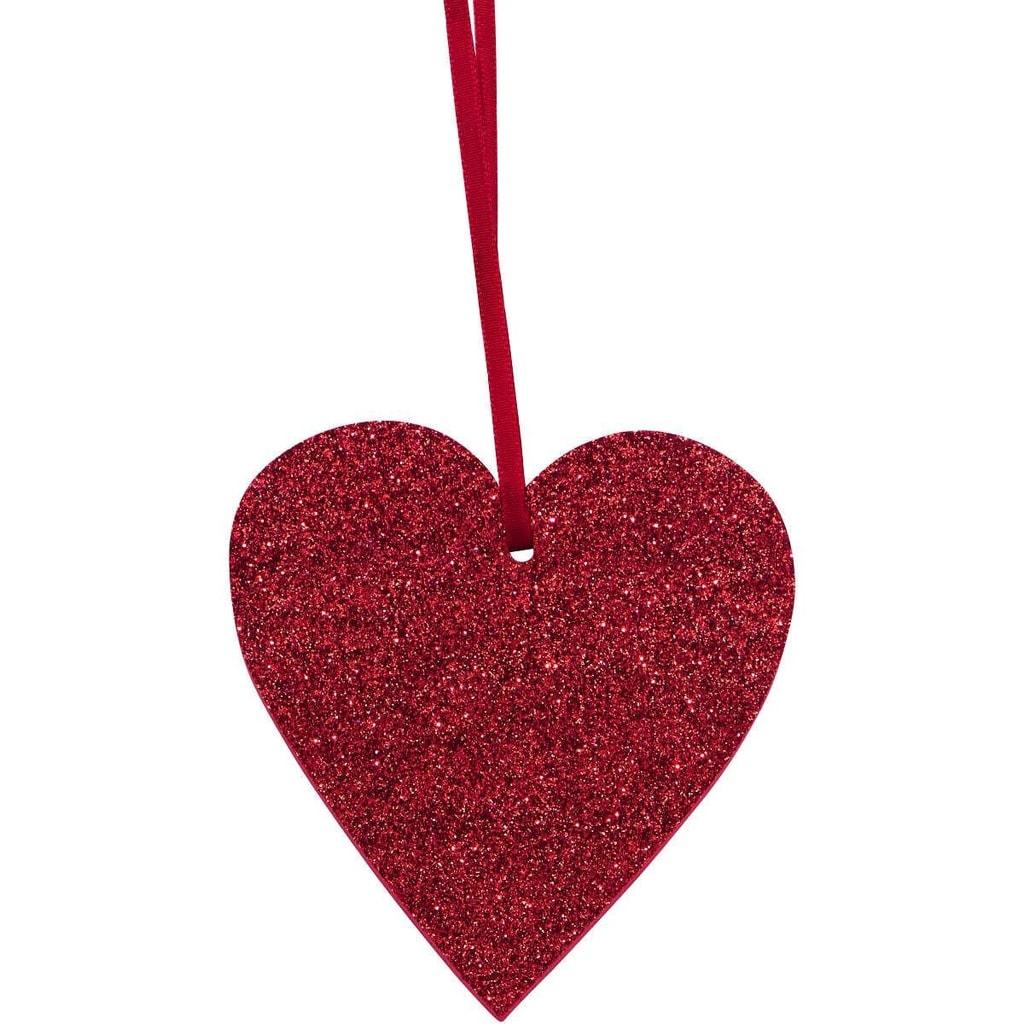 HAPPY GIFT Srdce s třpytkami