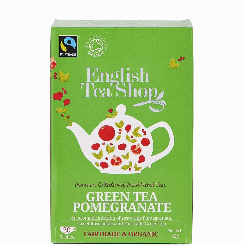 ENGLISH TEA SHOP Čaj zelený s granátovým jablkem