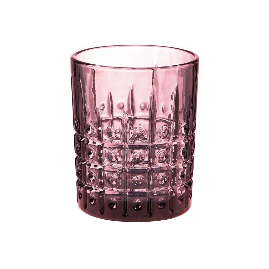 MONT FLEURI Sklenice puntíky 270 ml - sv. růžová