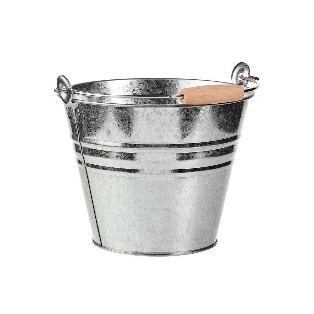 ZINC Kbelík 16 cm - stříbrná