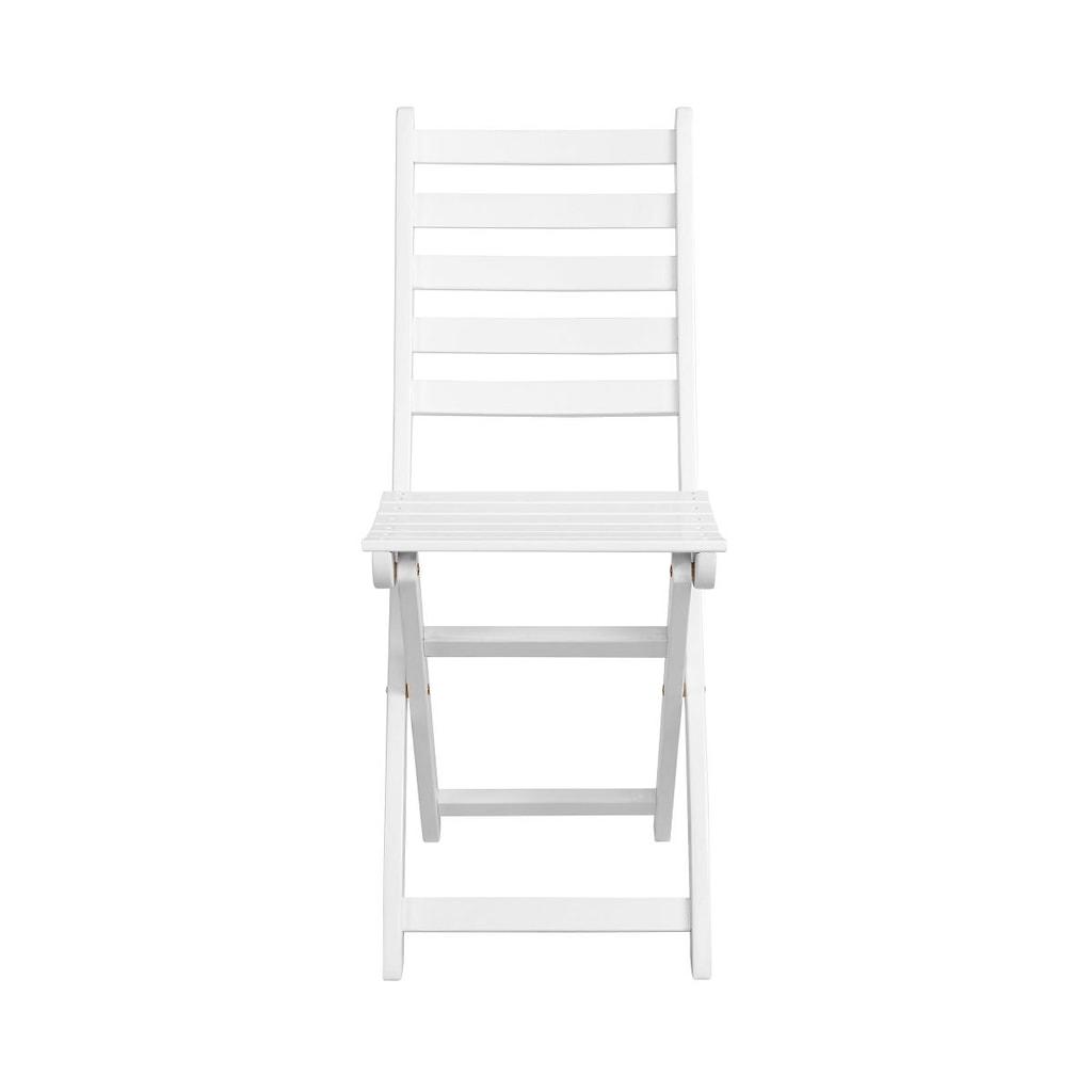 LODGE Skládací židle - bílá