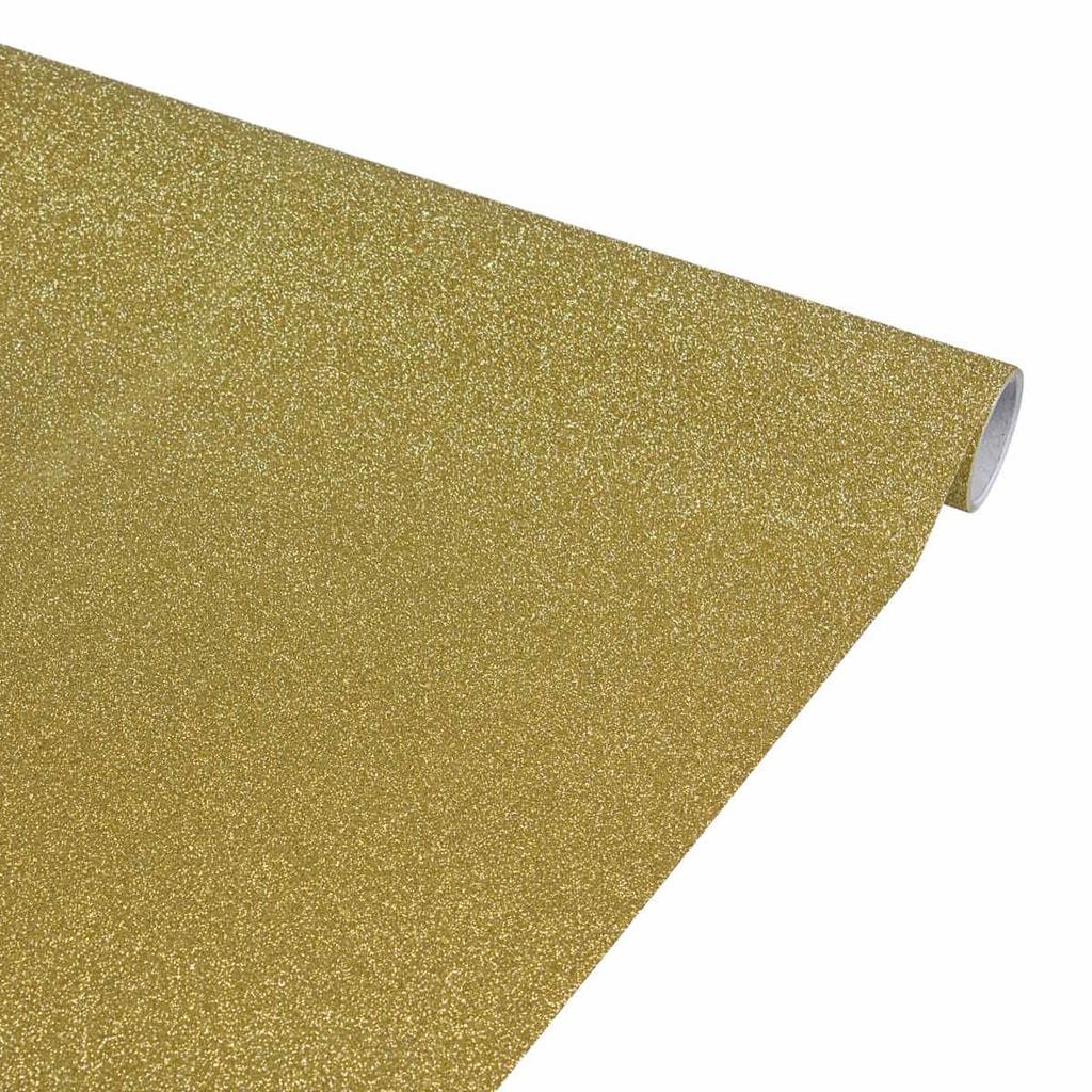 SURPRISE Dárkový balící papír třpytivý - zlatý