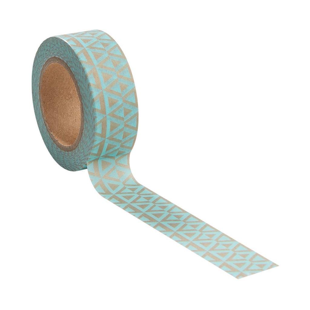 TAPE Lepicí páska geometrický vzor 10 m - tyrkysová