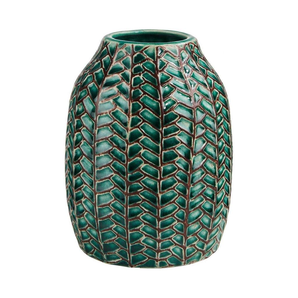 WILD GREEN Váza 15 cm - tm. zelená