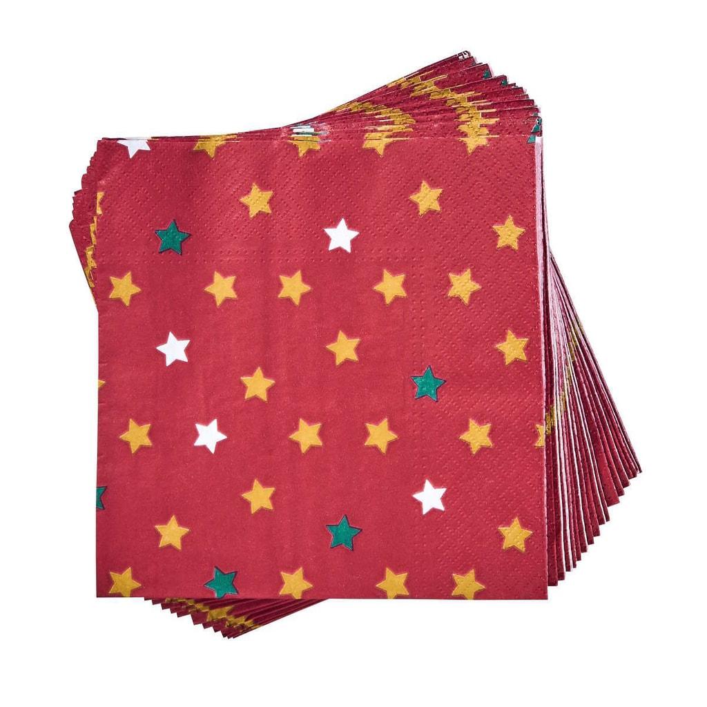 APRÉS Papírové ubrousky hvězdy 20 ks