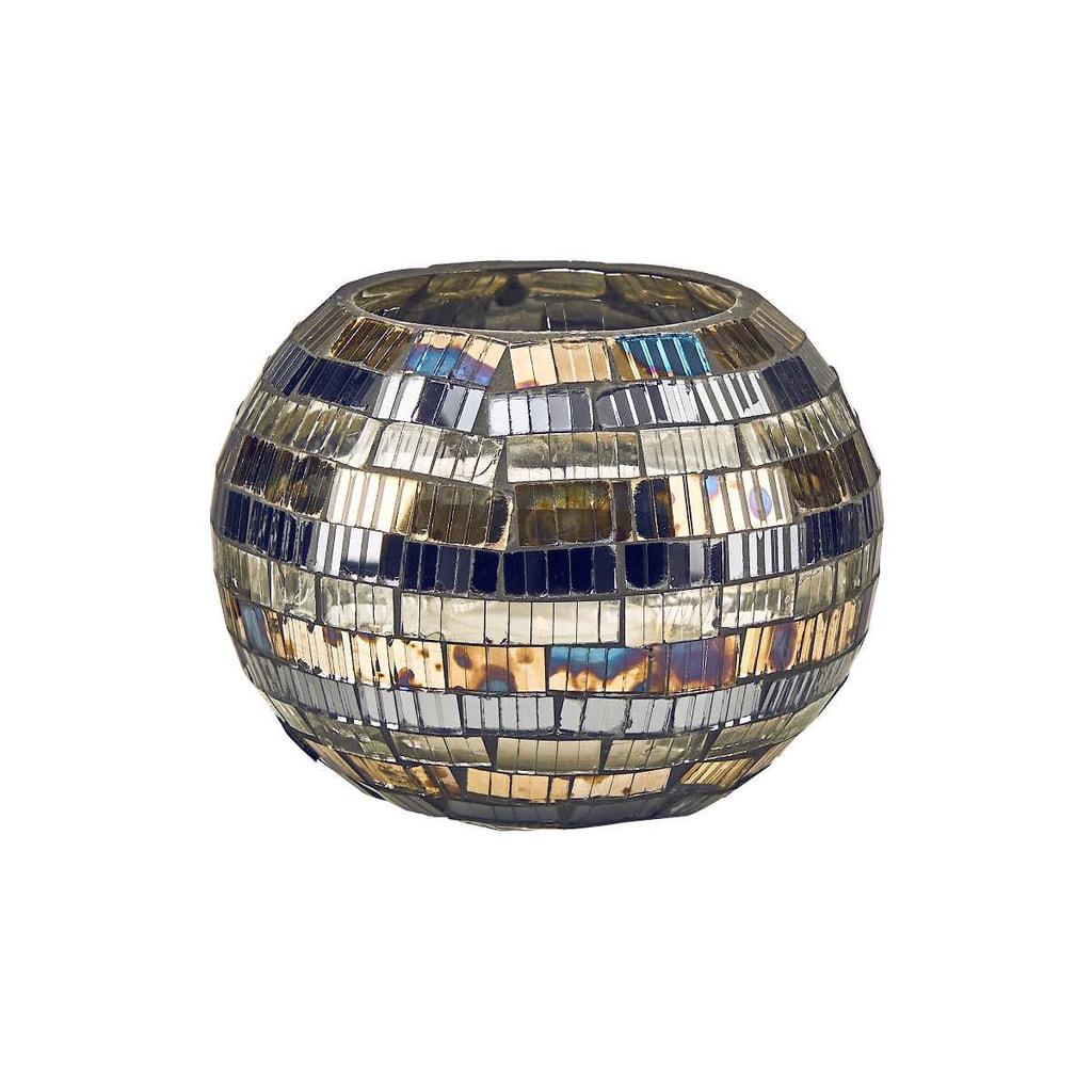 PALACIO Svícen mozaika pruhy 8,5 cm