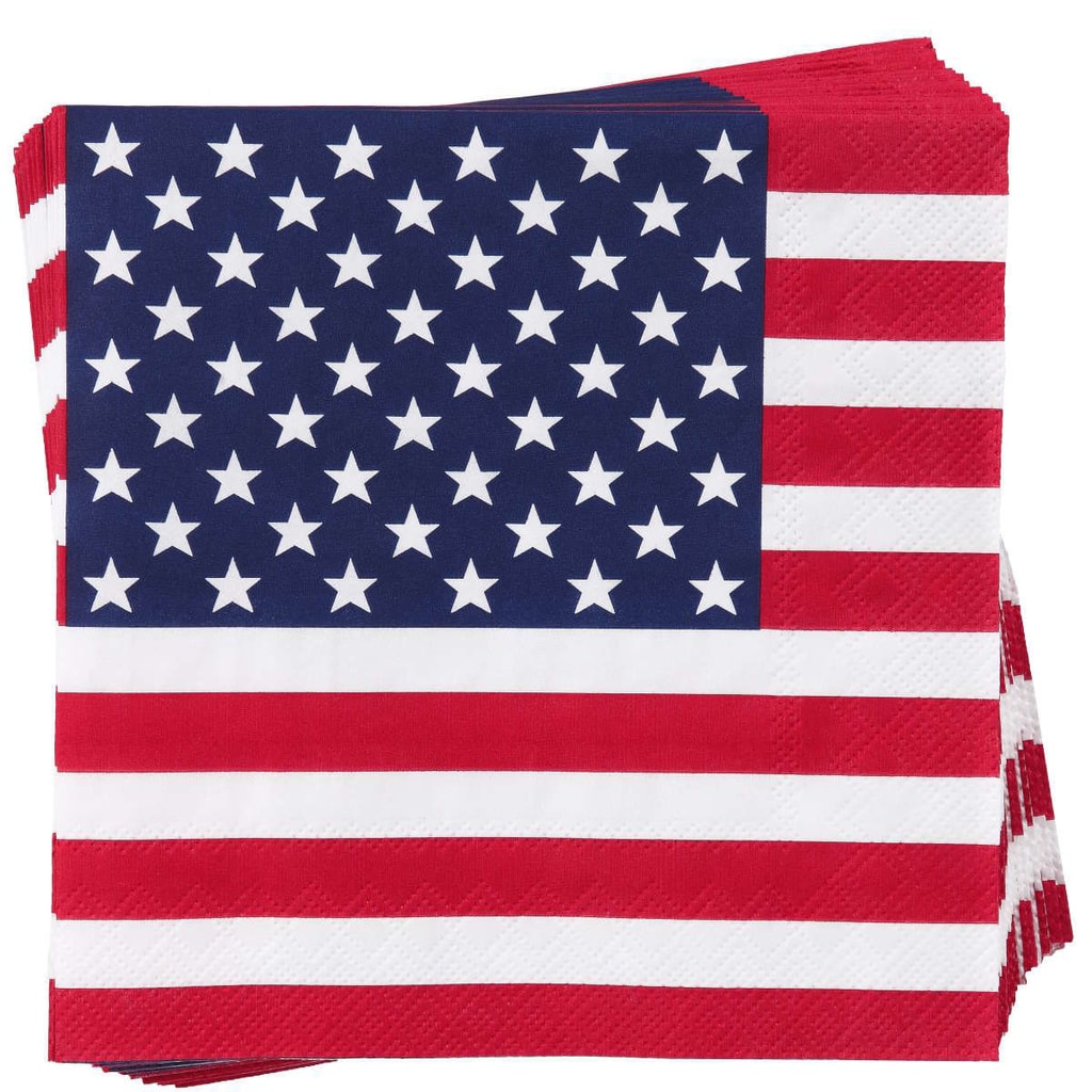 APRÉS Papírové ubrousky americká vlajka