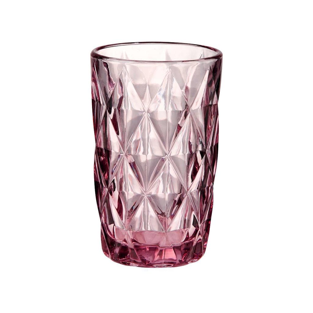 MONT FLEURI Sklenice diamant 315 ml - sv. růžová