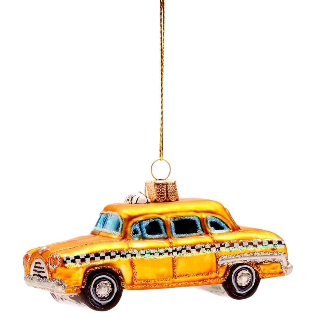 HANG ON Ozdoba taxi 10 cm - žlutá