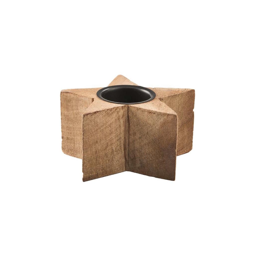 X-MAS Svícen na čajovou svíčku hvězda 6 cm
