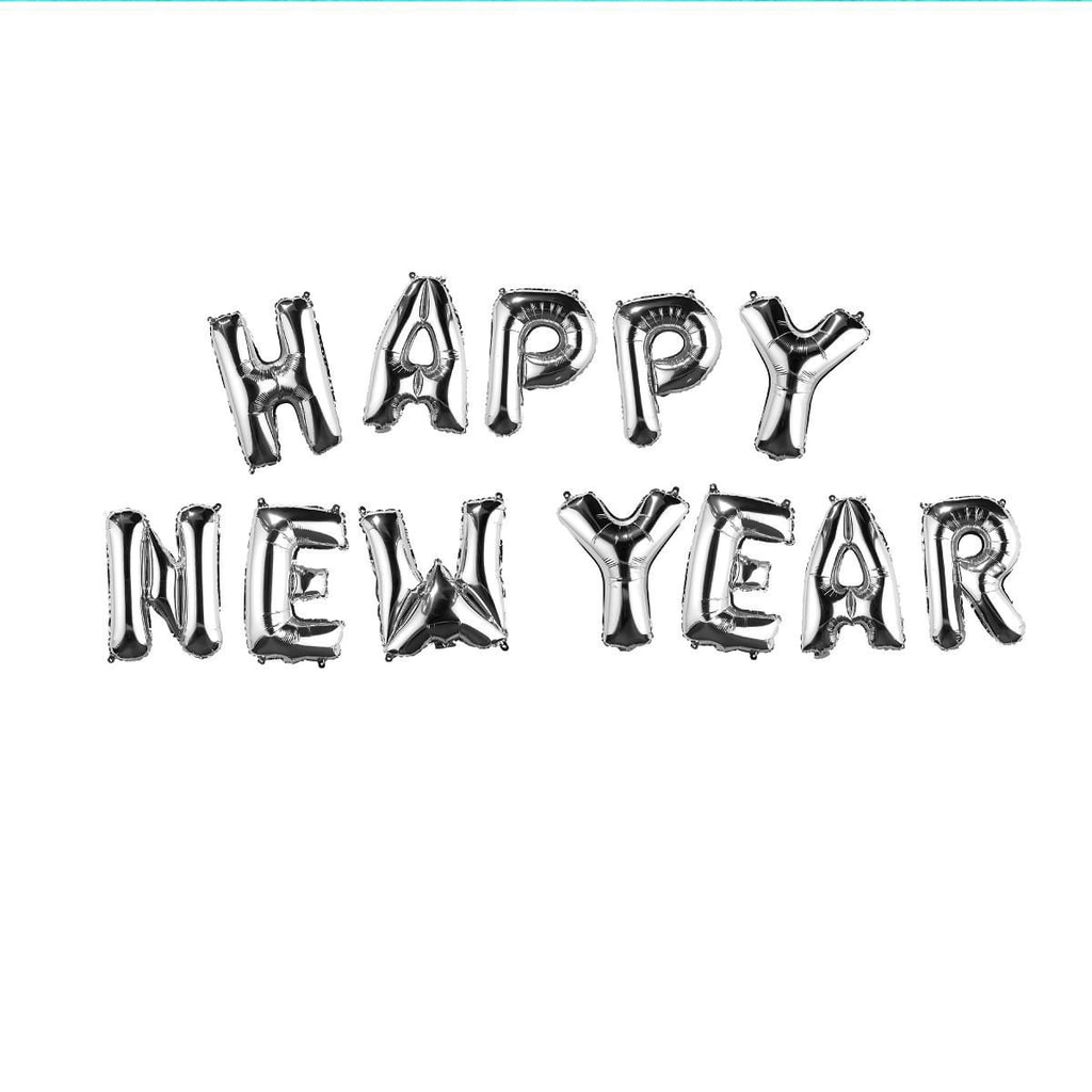 """UPPER CLASS Fóliový balónek """"HAPPY NEW YEAR"""" - stříbrná"""