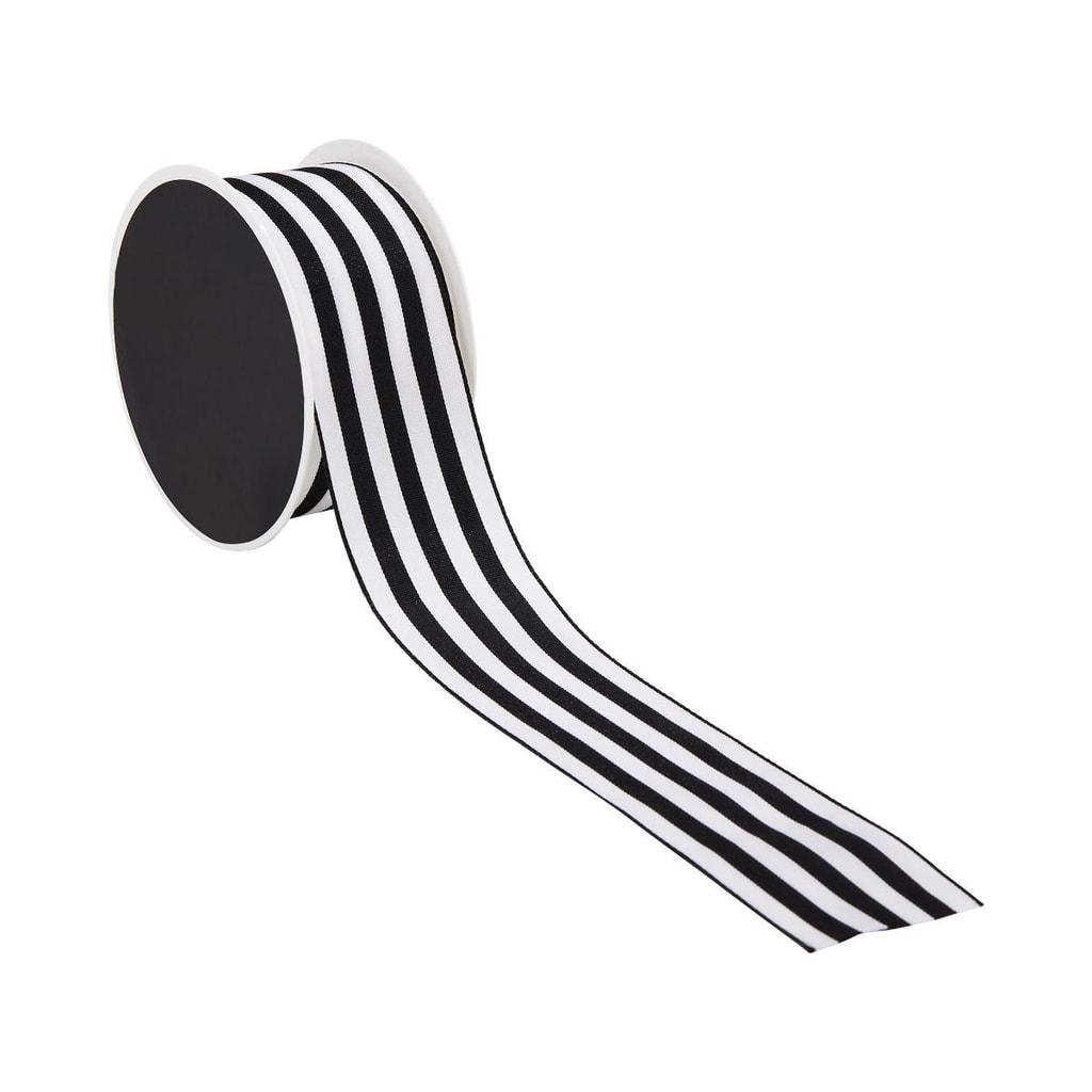 RIBBON Dárková stuha - černá/bílá