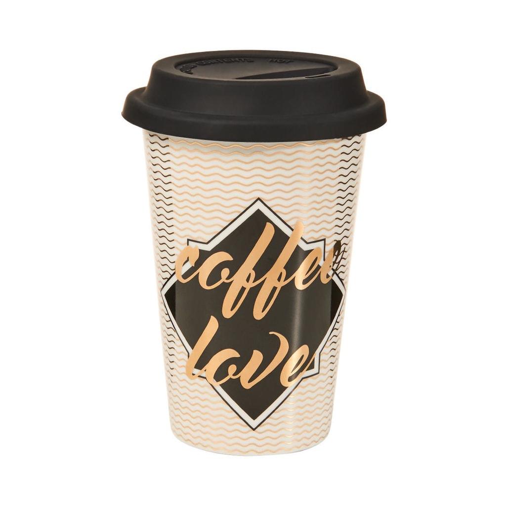 "COFFEE DELUXE Cestovní hrnek na kávu ""Coffee Love"""