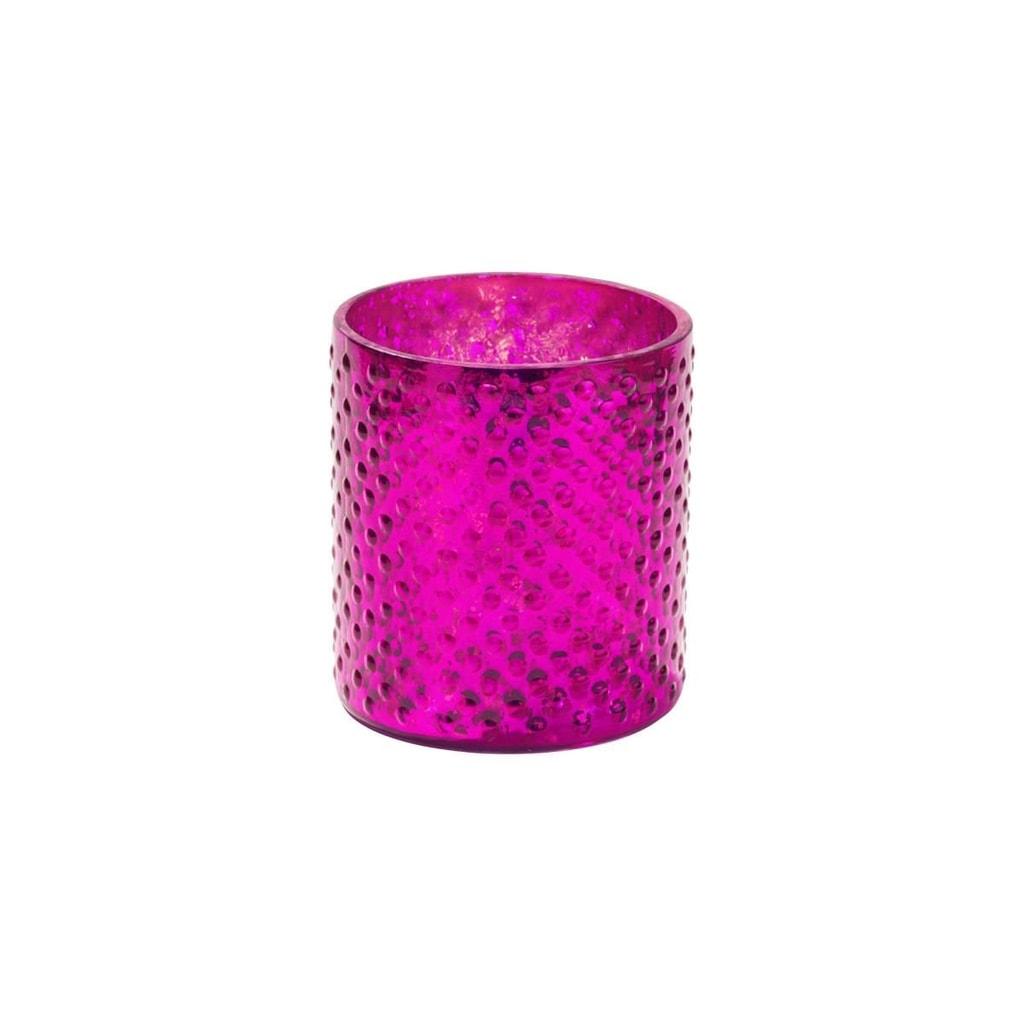Fotografie DELIGHT Svícen na čajovou svíčku 8 cm - malinová