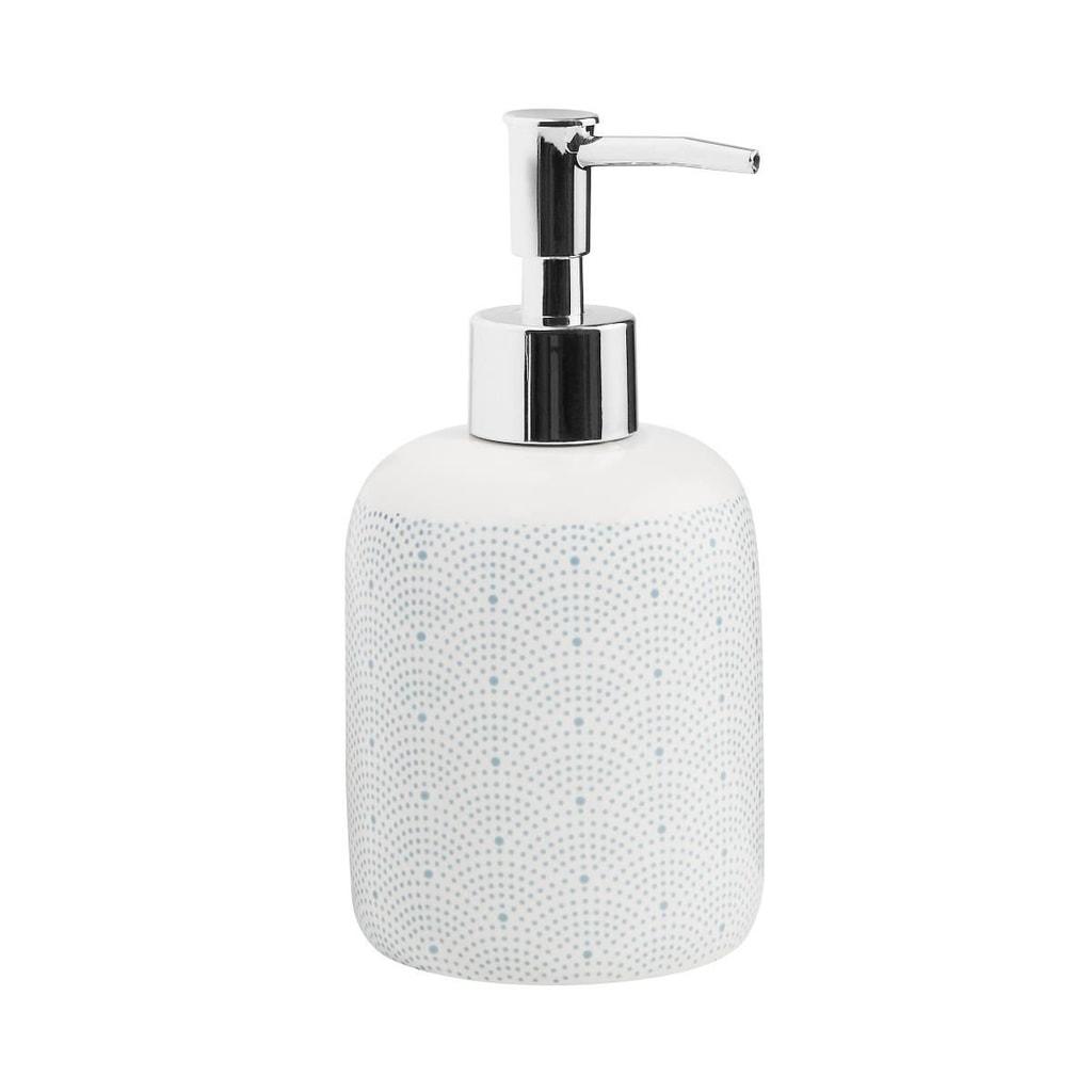 SOAP STARS Dávkovač mýdla puntíky - modrá/bílá