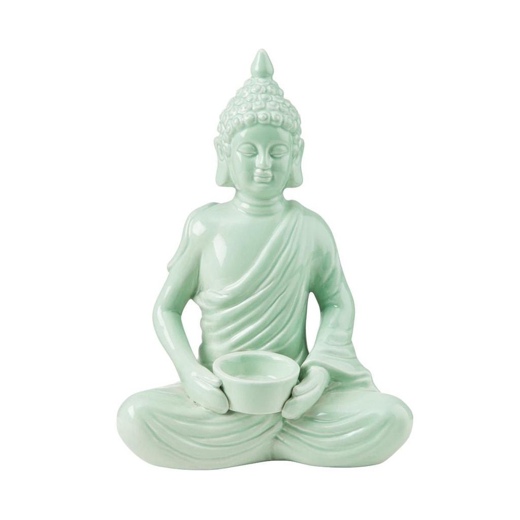 BUDDHA Svícen na čajovou svíčku Buddha 28,5 cm