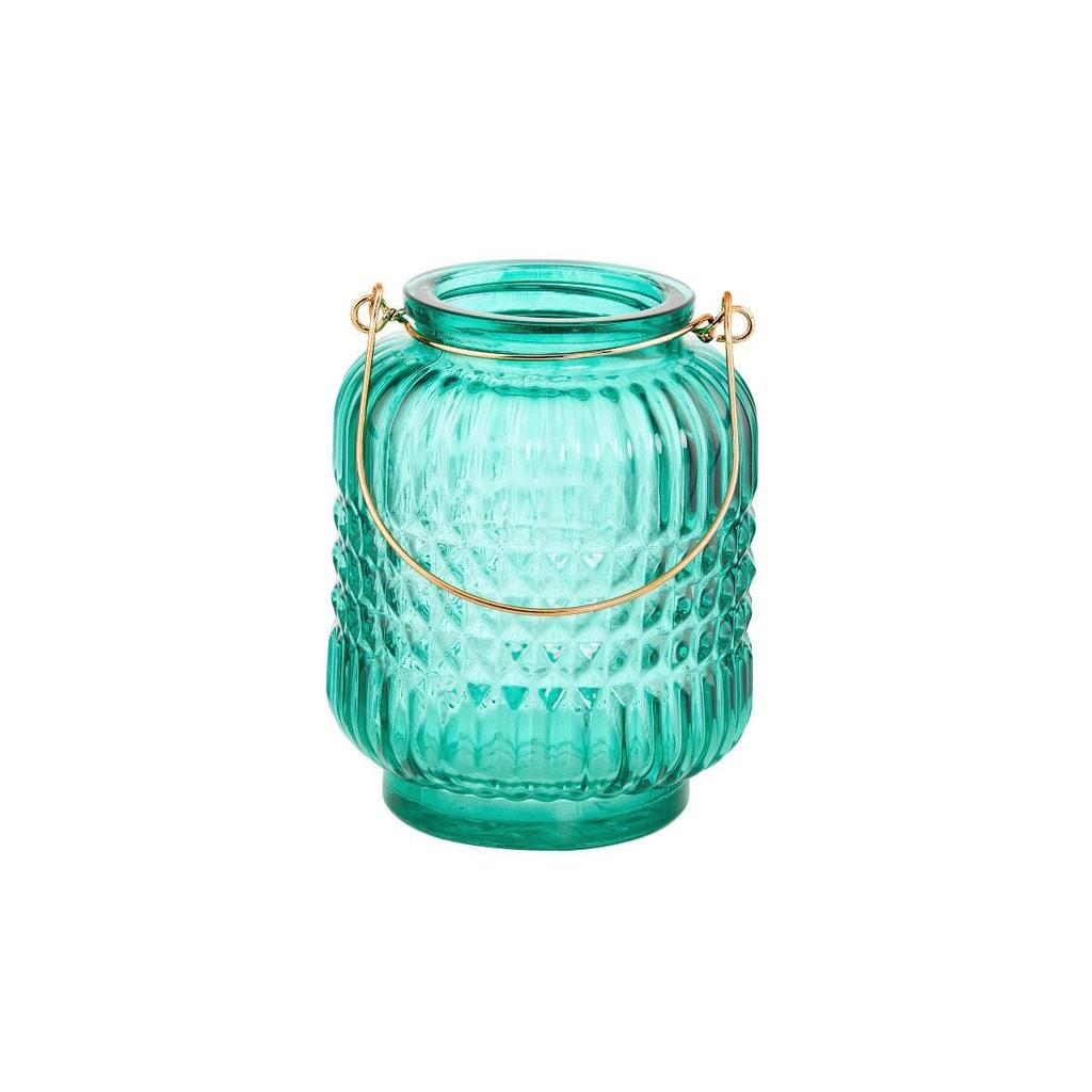 DELIGHT Svícen 12 cm - modrá