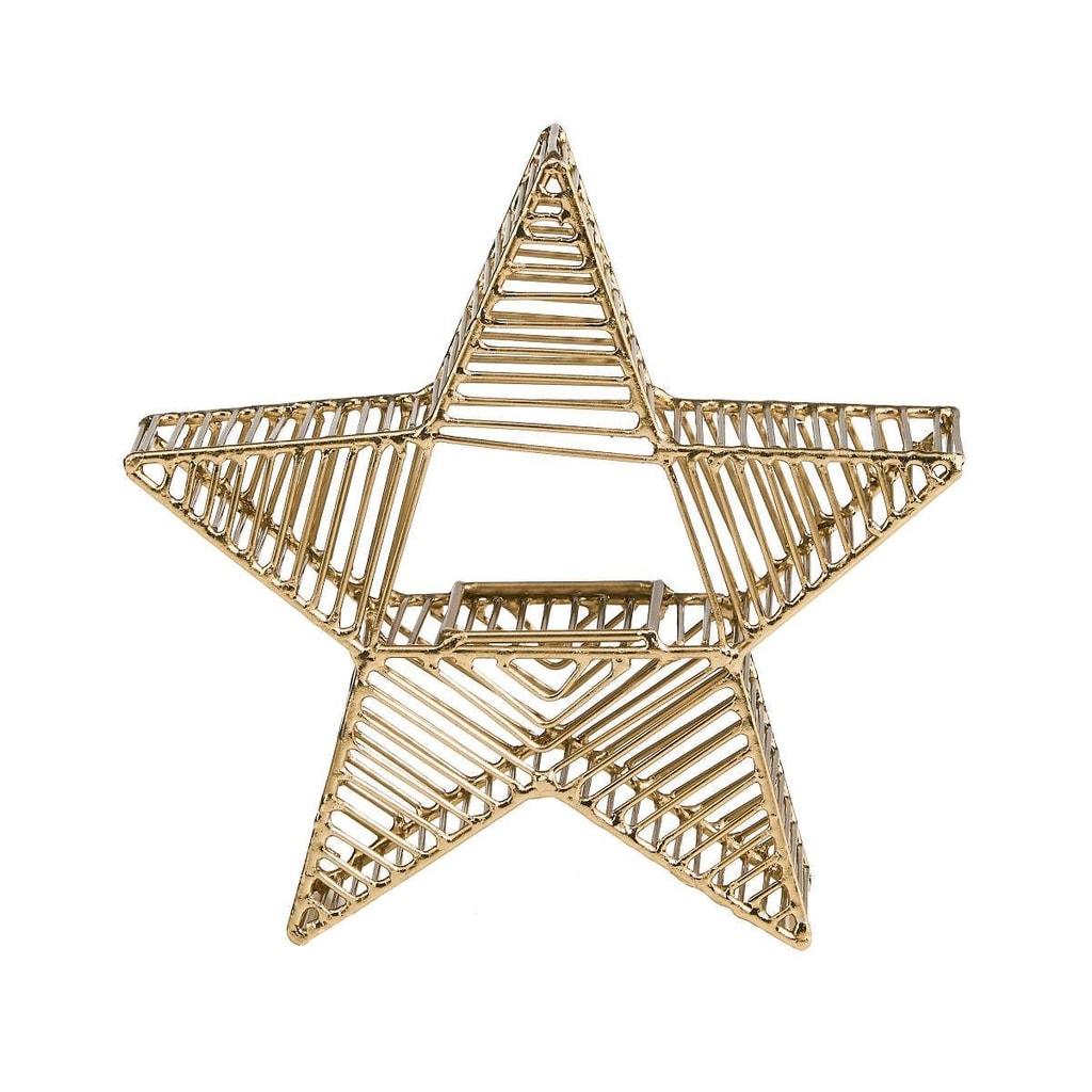 STARLIGHT Kovový svícen hvězda