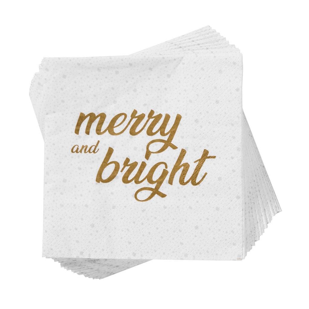 "APRÉS Papírové ubrousky ""Merry and Bright"" 20 ks"