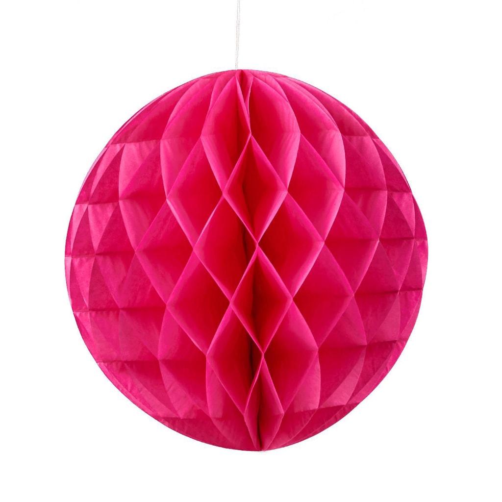 MAJA Papírová dekorační koule 30 cm - růžová