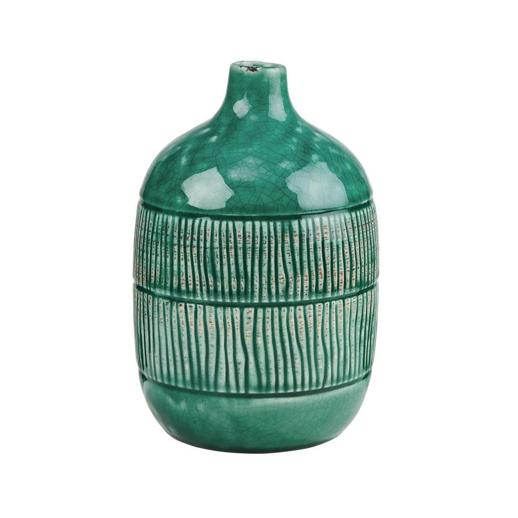 JARRON Váza keramická proužky 20 cm
