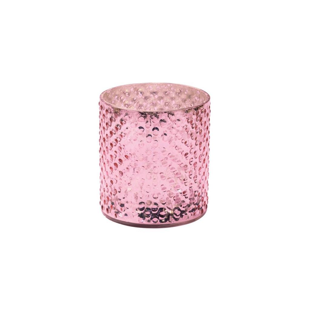 DELIGHT Svícen na čajovou svíčku 8 cm - sv. růžová