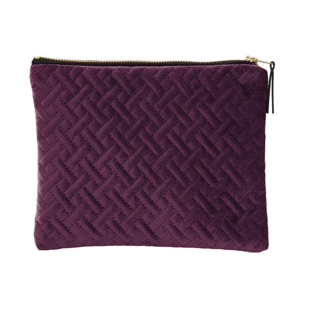 VOGUE Sametová kosmetická taška strukturovaná - bordó
