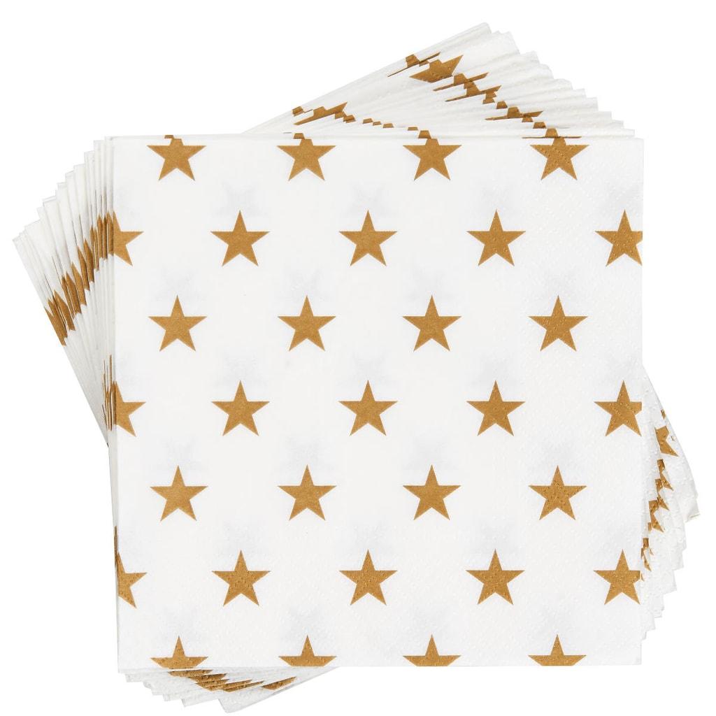 APRÉS Papírové ubrousky hvězdy