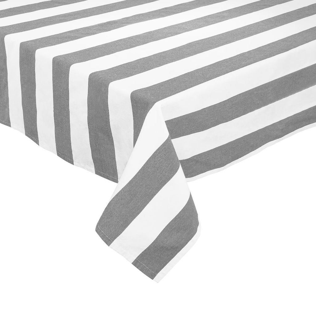 LA LINEA Ubrus 160 x 250 cm - černá/bílá