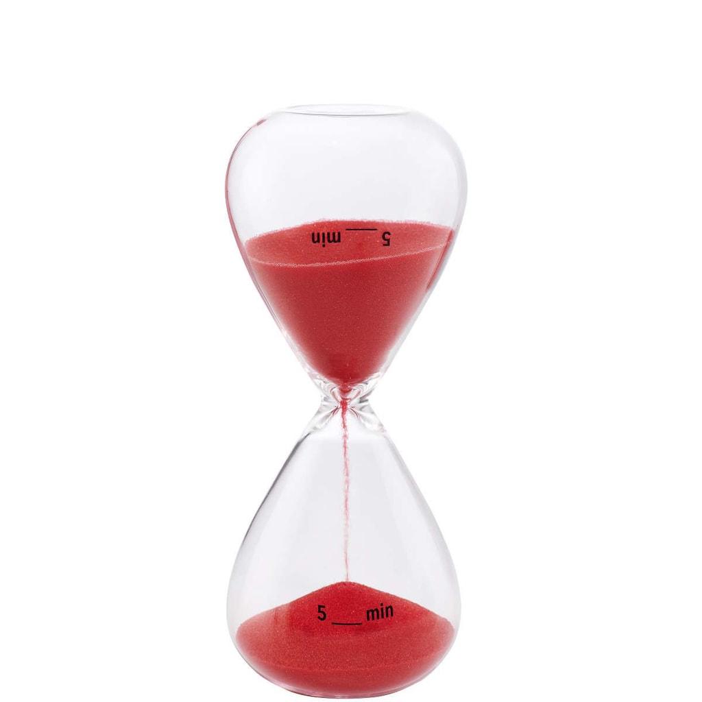 5 MINUTES Přesýpací hodiny 5 minut - červená