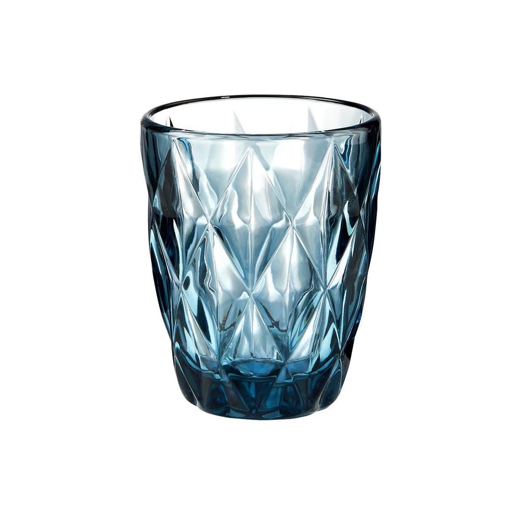 MONT FLEURI Sklenice diamant 230 ml - modrá