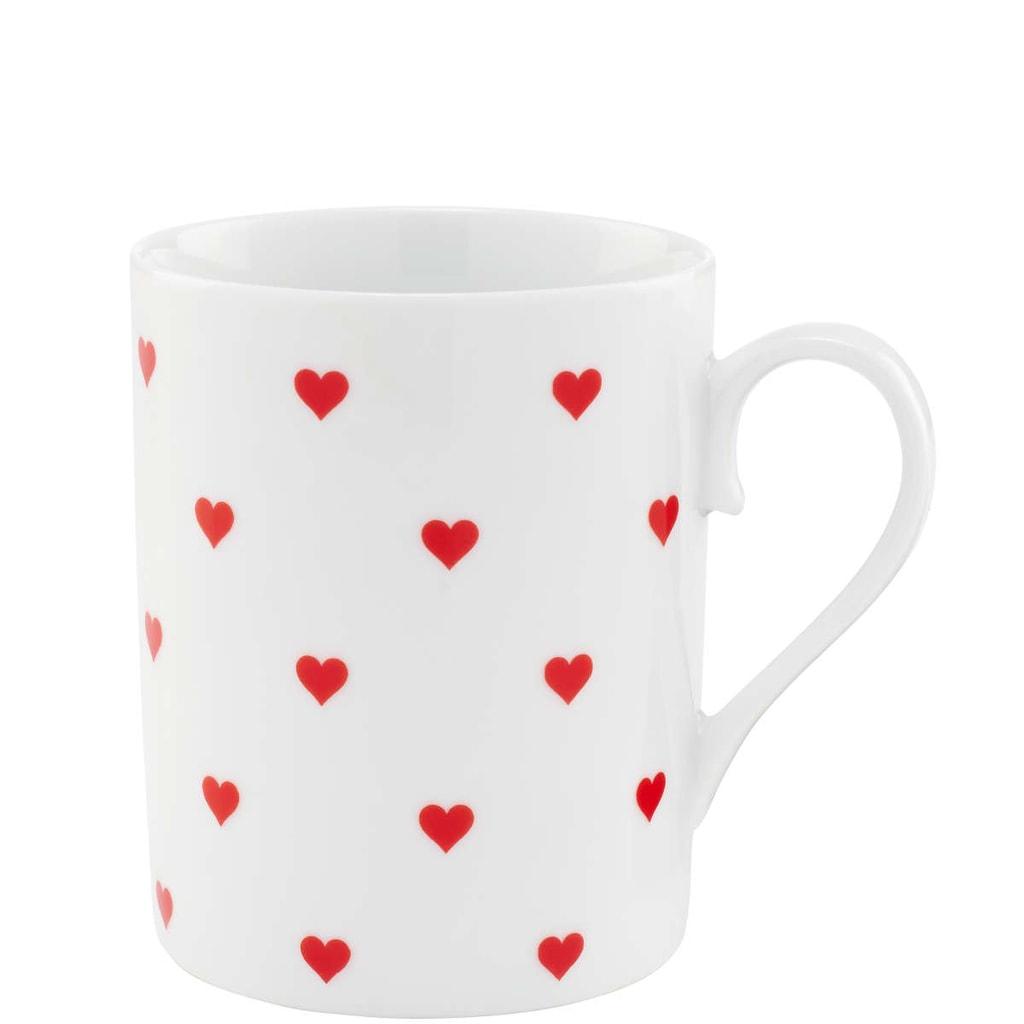HEART TO HEART Porcelánový hrnek se srdíčky