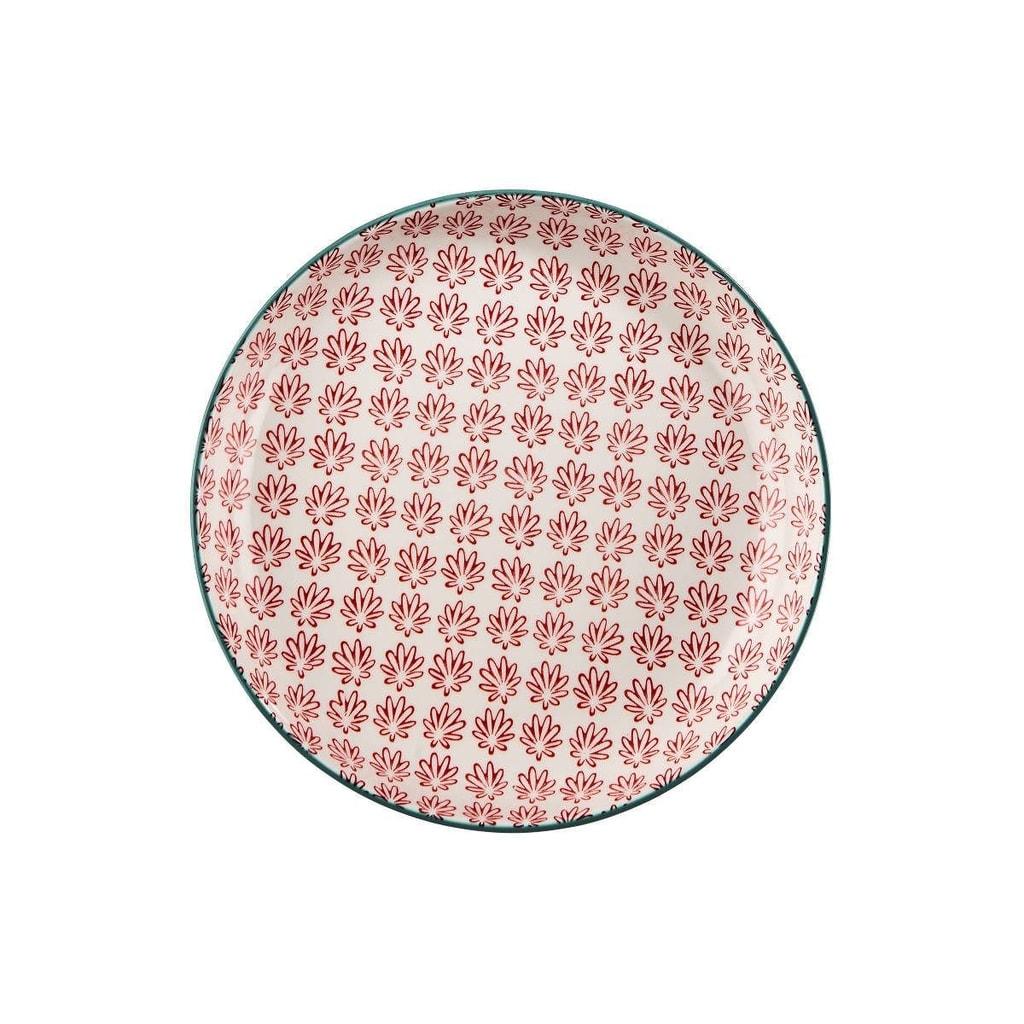RETRO Talíř hluboký 21 cm - červená