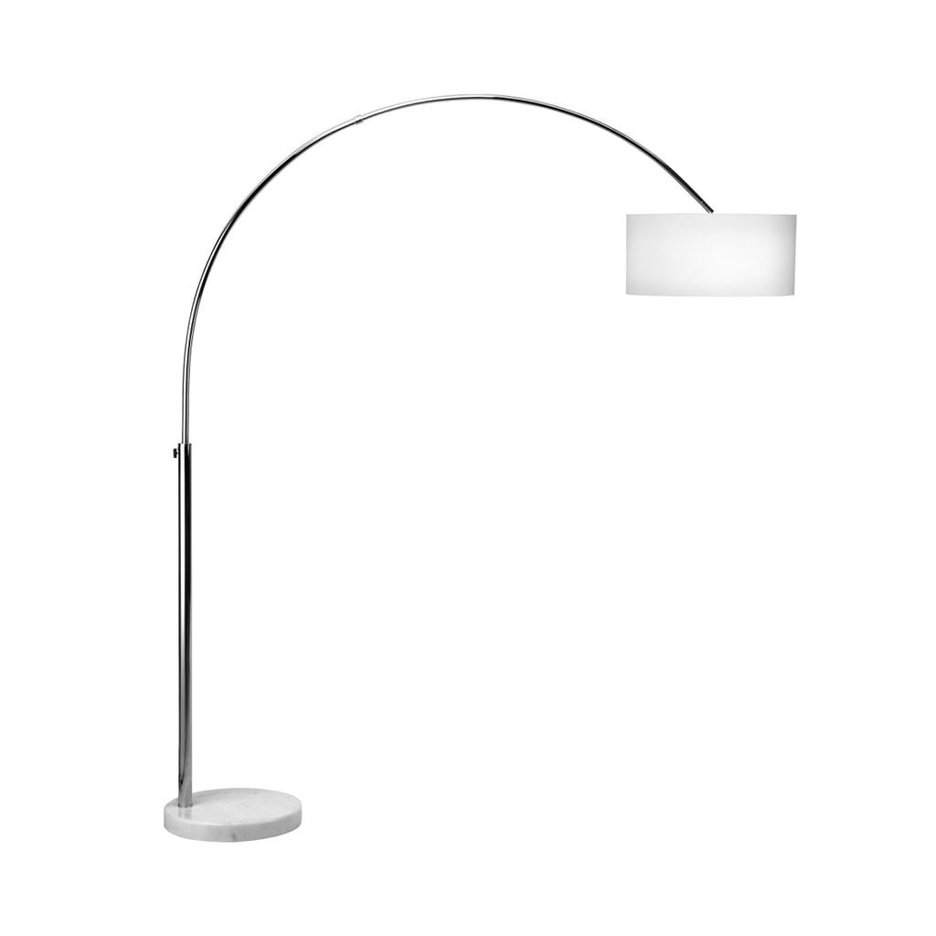 BOW Stojací lampa - chrom/bílá