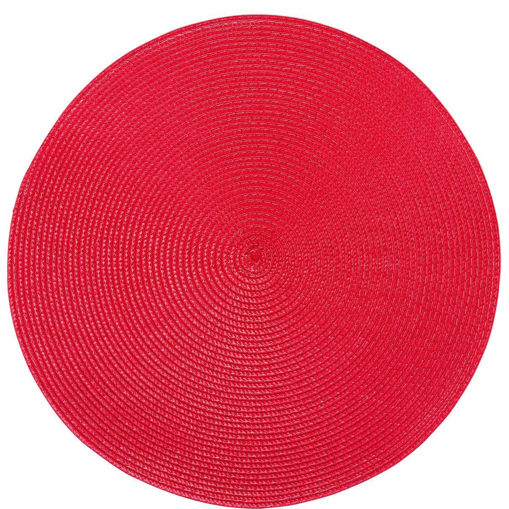 AMBIENTE Prostírání kulaté - červená