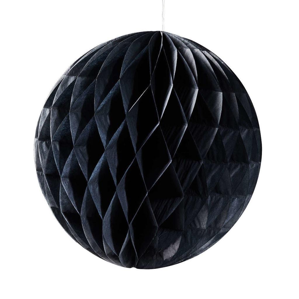 MAJA Papírová dekorační koule 30 cm - černá