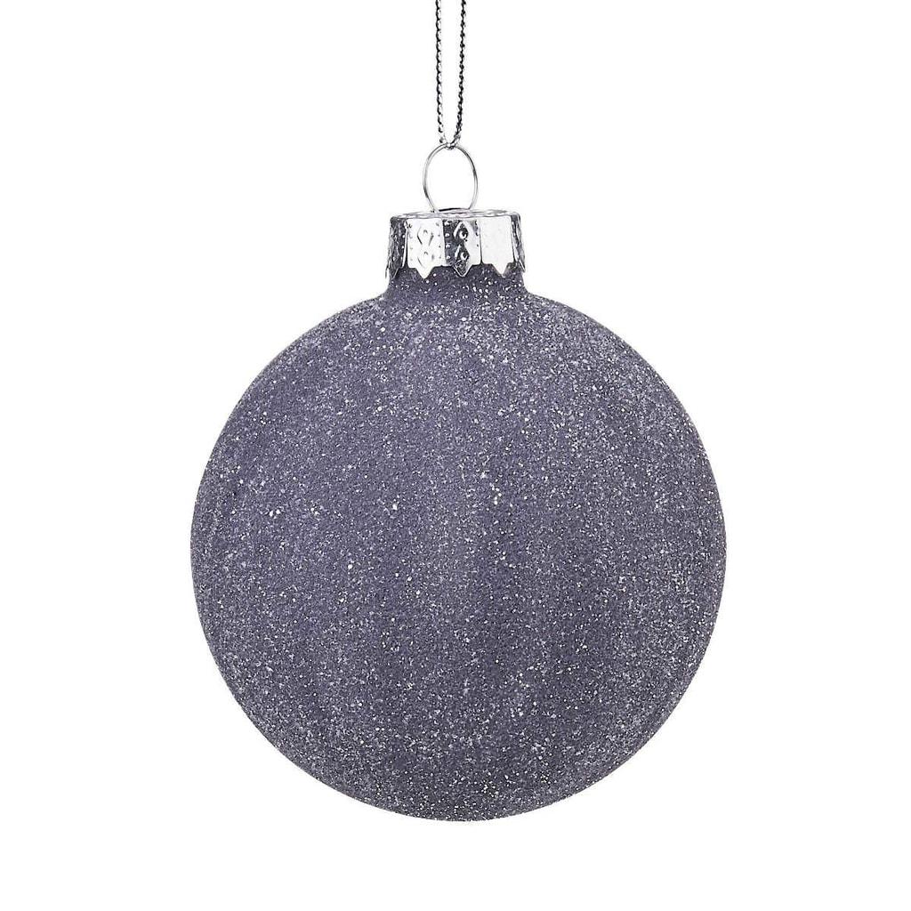 HANG ON Ozdoba vánoční koule 8 cm - tm. modrá