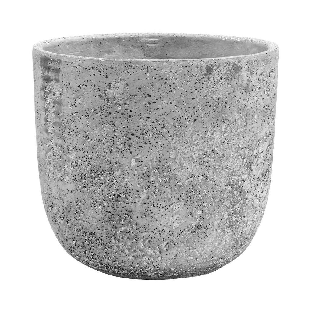 FLORAL BASIC Květináč z betonu kulatý, 19 cm