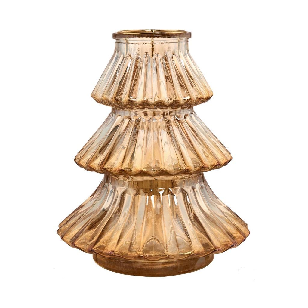 YULE Svícen stromek 19 cm - zlatá
