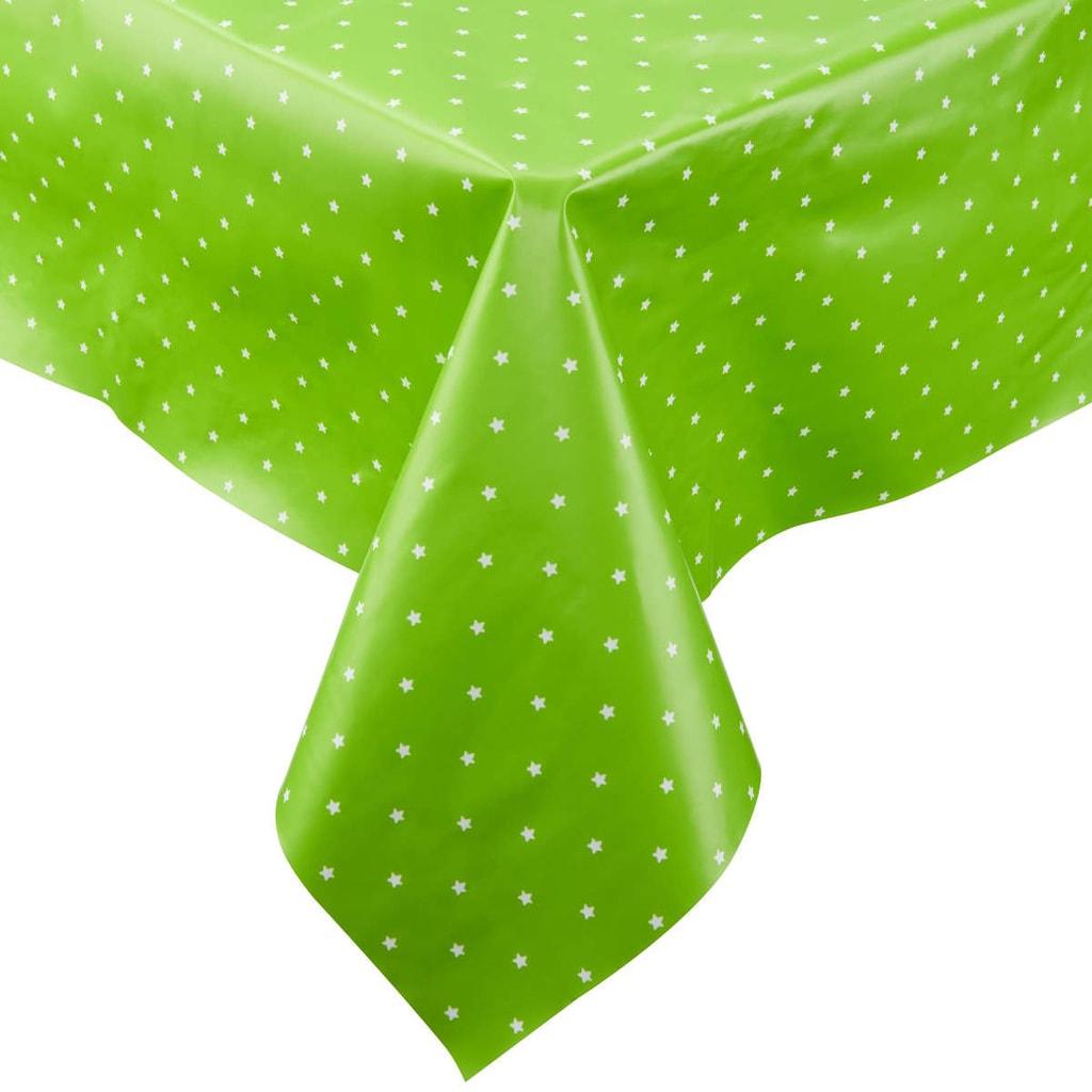 Fotografie WATERPROOF Ubrus omyvatelný hvězdy 110 x 110 cm - zelená