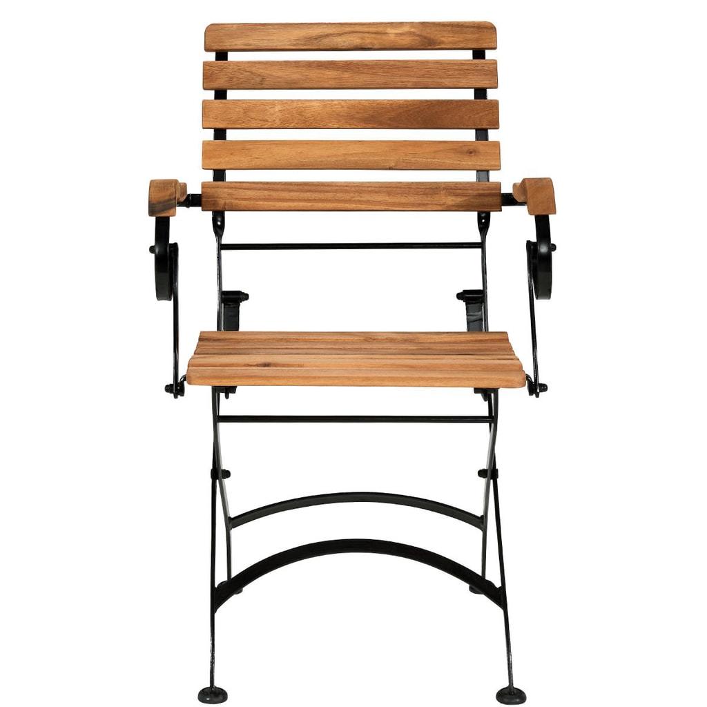 PARKLIFE Skládací židle s područkami - hnědá/černá
