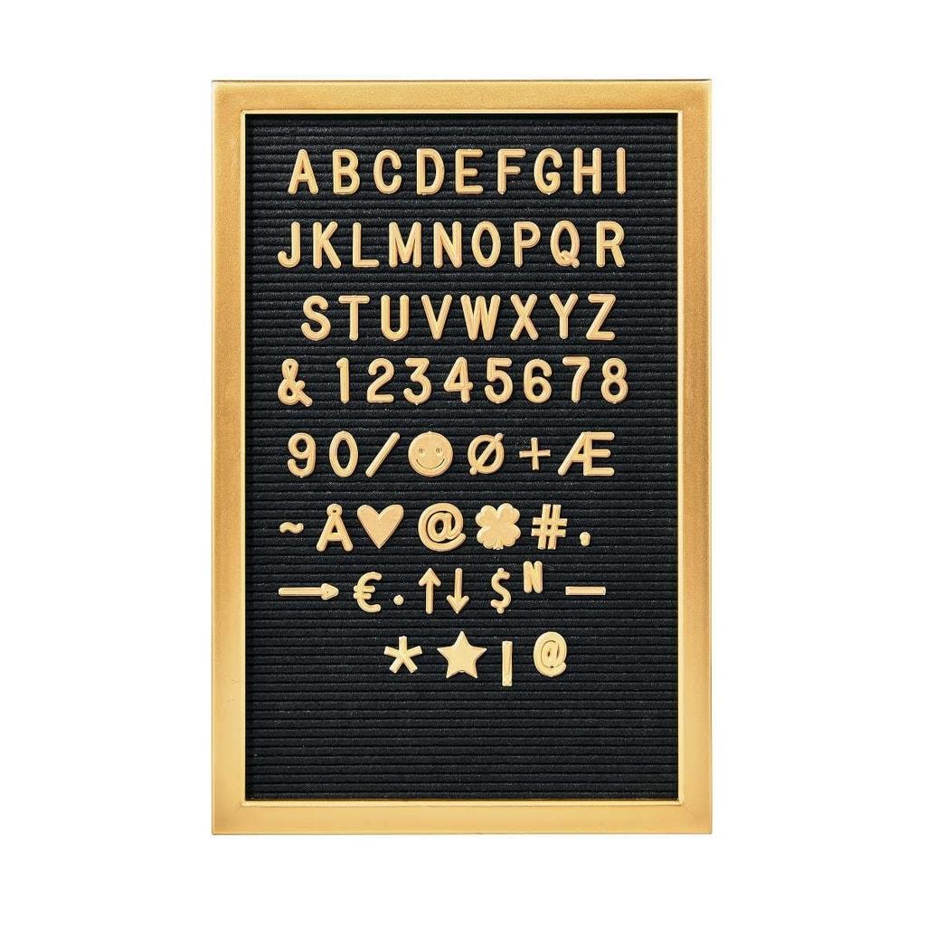 MESSAGE BOARD Tabule na vzkazy 45 x 30 cm - zlatá